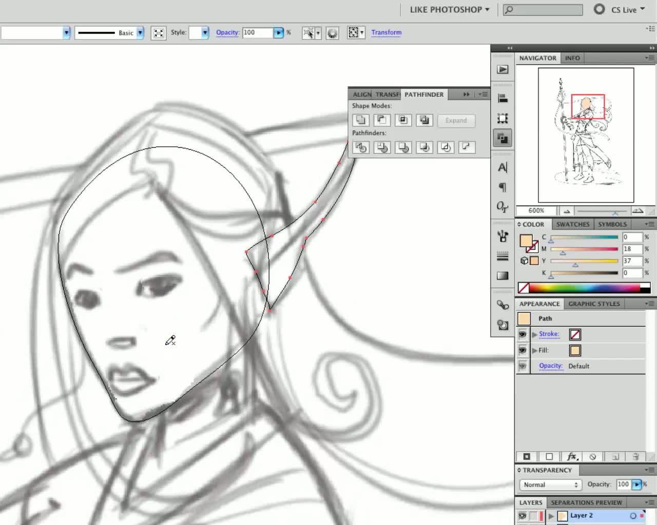 TUTO Mise en couleur d'un personnage sous Illustrator avec