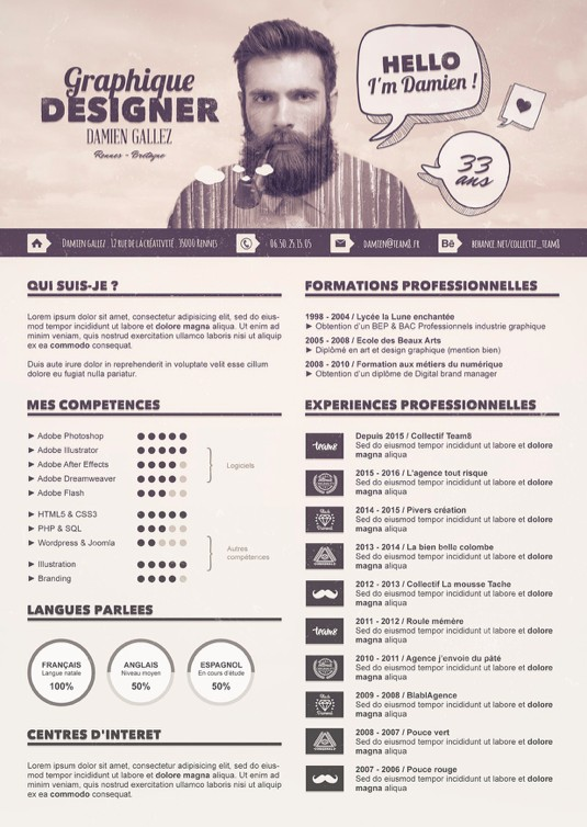 cv photoshop competences