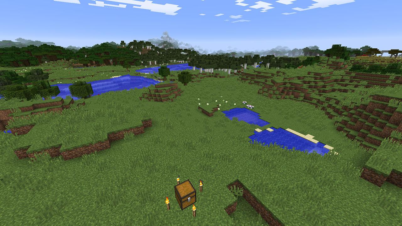 Minecraft Seed Minecraft Manoirs Villages Et Mine Abandonne