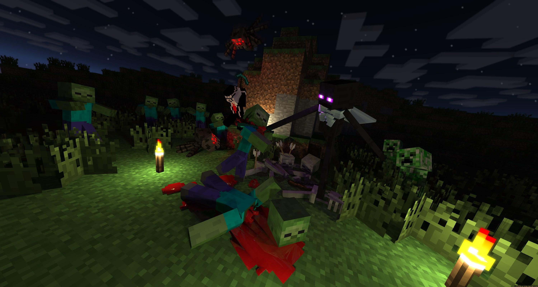 Minecraft Wallpaper Creeper 3d Minecraft Fonds D 233 Crans