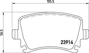 Mintex OEM Replacment Rear Brake Pads for Audi TT-RS RS3 2