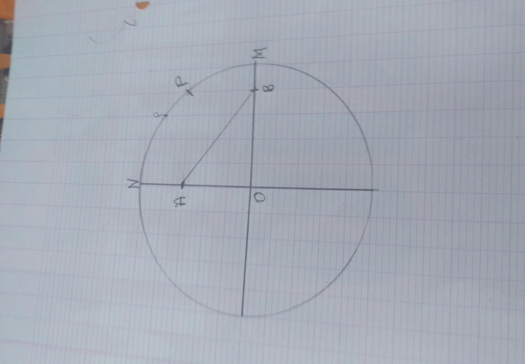 fatou a tracer un quart de cercle de