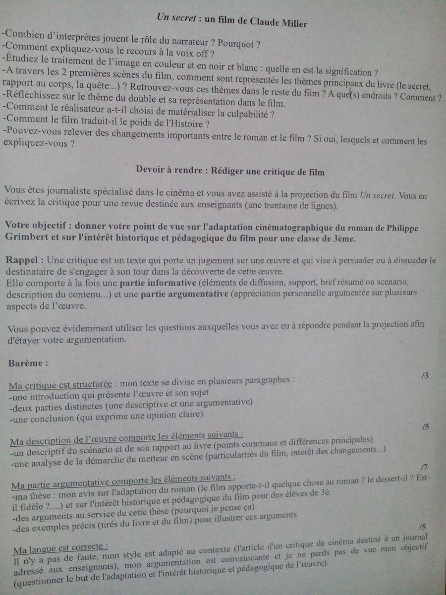 Rédiger Une Critique De Film : rédiger, critique, Plait, Aidez, Redigez, Critique, Secret