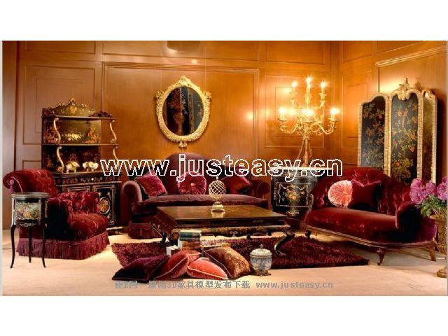 combinaison classique d un mod le 3d de meubles de luxe y compris le mat riel 3d model download free 3d models download
