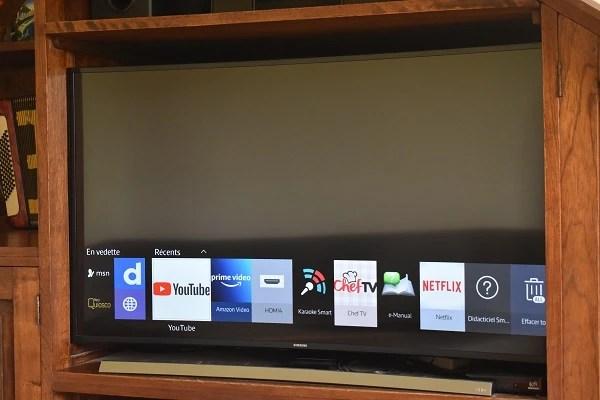 noir sur une smart tv