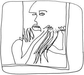 Cheveux tirés-tangled-hair désirée tahiri dessin