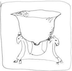 Marie-Antoinette breast shaped cup:tasse en forme de sein d