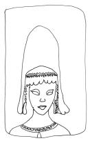 Tête ibérienne/Spanish woman head