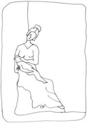 Young Greek woman nursing:Jeune Grecque allaitant