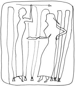 Femmes grece ancienne tissant:Ancient greece women weaving