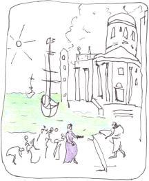 Cléopatre arrive à Tarsus, de Claude Lorrain