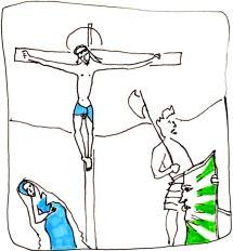 Miniature française crucifixion Marie et Madeline/Histoires de femmes