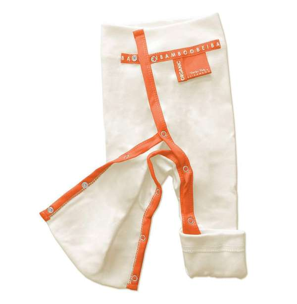 chili red Baby Trousers with fully opening legs