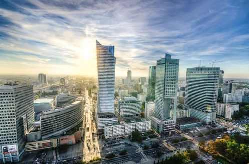 Centre-ville de Varsovie, Pologne