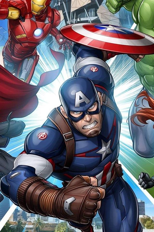Marvel Iphone Wallpaper Hd Fonds D 233 Cran Super H 233 Ros Marvel Comics Art Photo