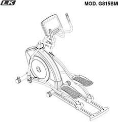 LK8150 elliptique professionnel