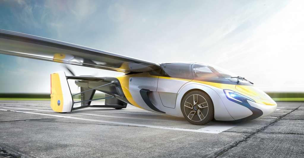 Voici les dernières photos officielles de l'AeroMobil dont le design a sensiblement évolué par rapport au prototype initial. © AeroMobil