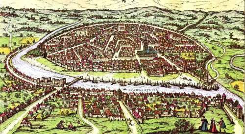 La ville de Séville par Joris Hoefnagel, fin XVIe siècle. © Historic Cities Research Project, Creative Commons