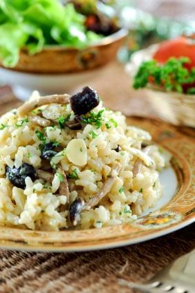 Recette Risotto Poulet Champignon : recette, risotto, poulet, champignon, Risotto, Champignons, Châtelaine