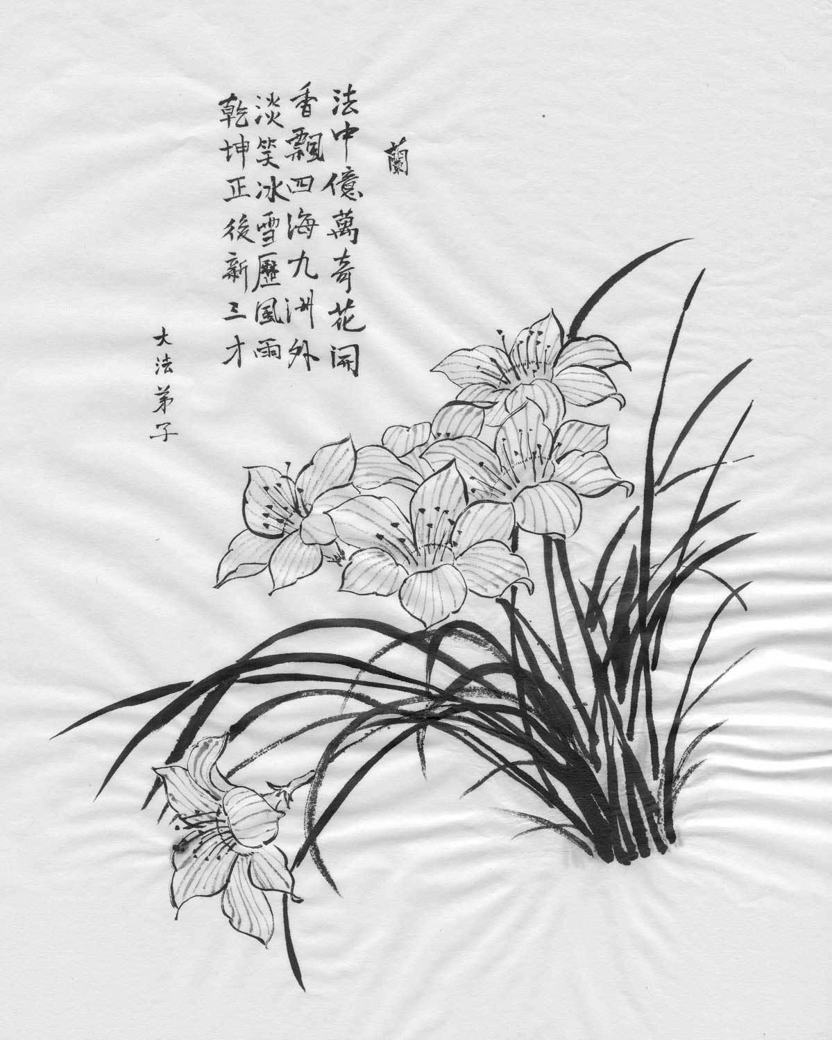 Peinture: Orchidées et Fleurs de prûniers