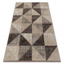 tapis feel 5672 15055 triangles beige et marron creme