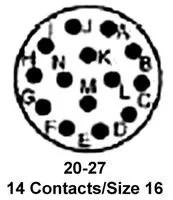 97-3106A-20-27P AMPHENOL INDUSTRIAL, CIRCULAR CONNECTOR