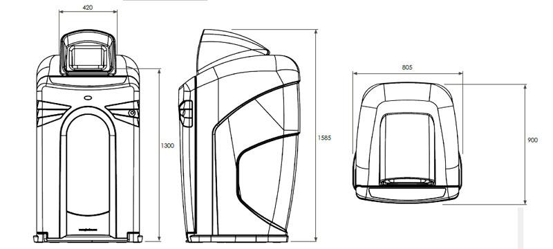 Nexus® City 240 Conteneur pour Déchets Génériques