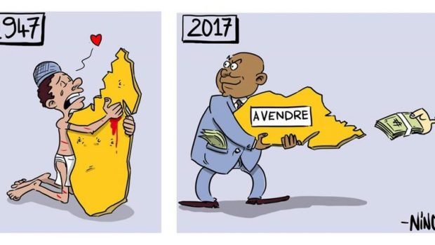 Dessin humoristique de Nino sur l'evolution du patriotisme de 1947 à 2017 a Madagascar par Nino (via blog de madagascar)