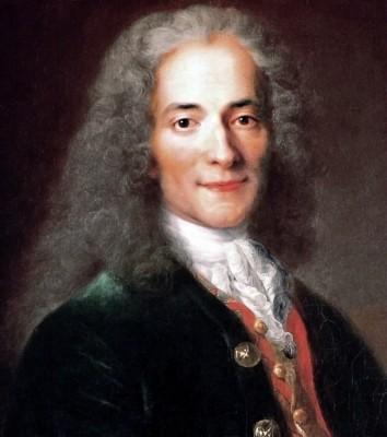 Nicolas de Largillière, portrait de Voltaire détail