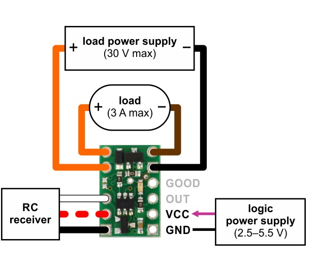 Pololu Wiring Diagram For Rc Switch With Medium Lowside Mosfet