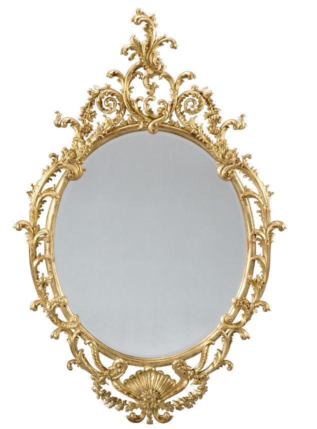 miroir oval chippendale