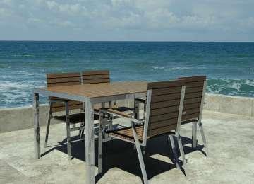 Table De Jardin Bois Inox | Table Inox Et Bois Fresh Table Prado En ...