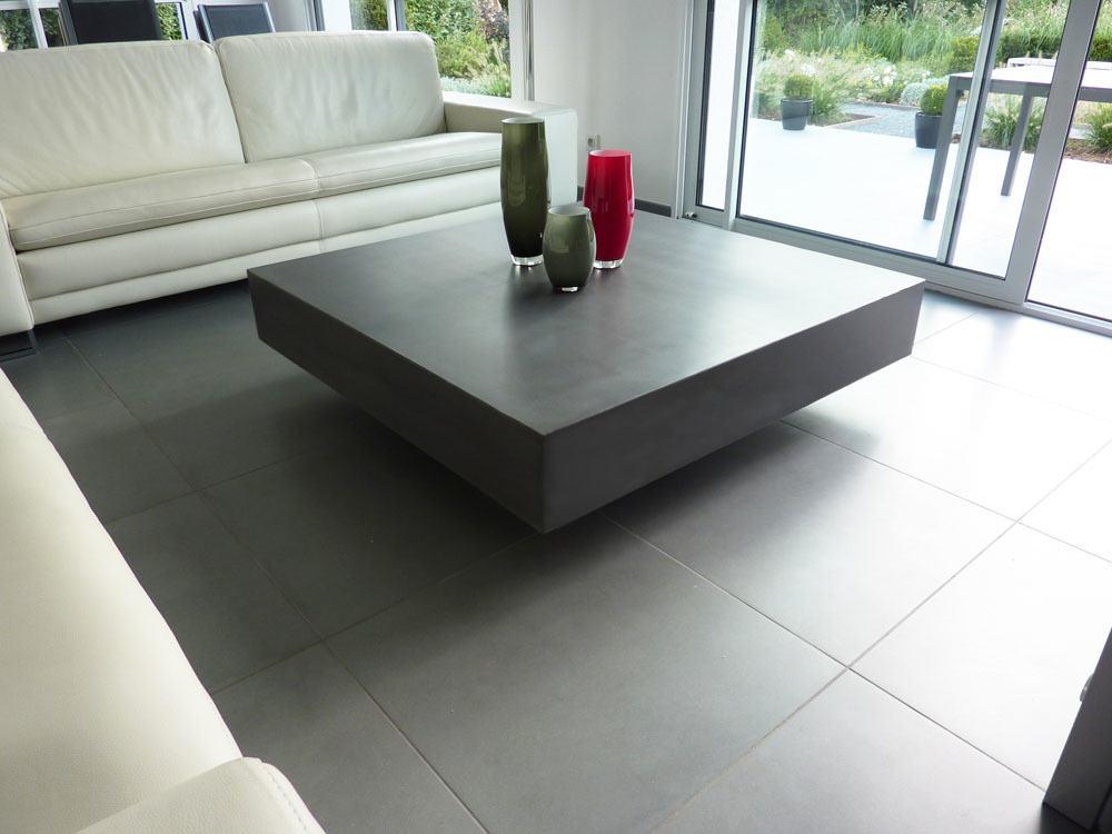 table basse beton cire helium