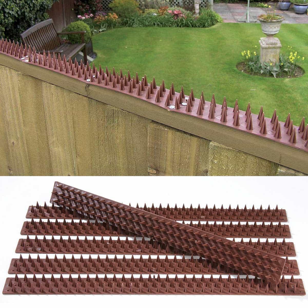 Barrire antipigeons inoffensive 3m de long en plastique recycl  Protection des rcoltes