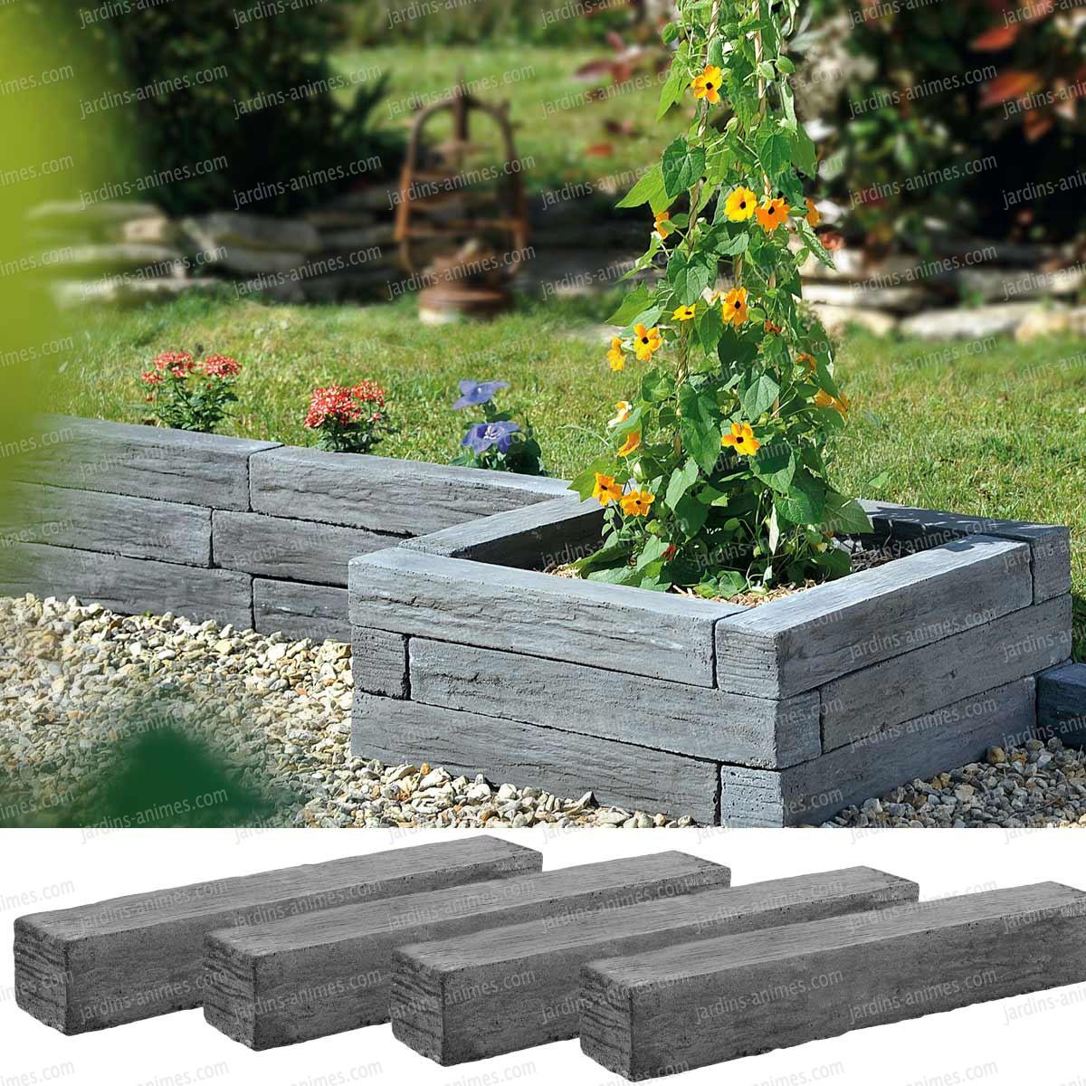 12 bordures en beton imitation ardoise