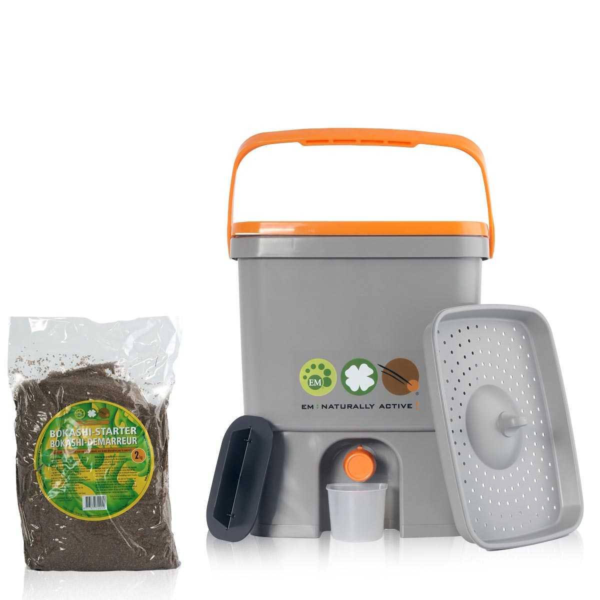 composteur de cuisine bokashi micro organismes vente au meilleur prix jardins animes