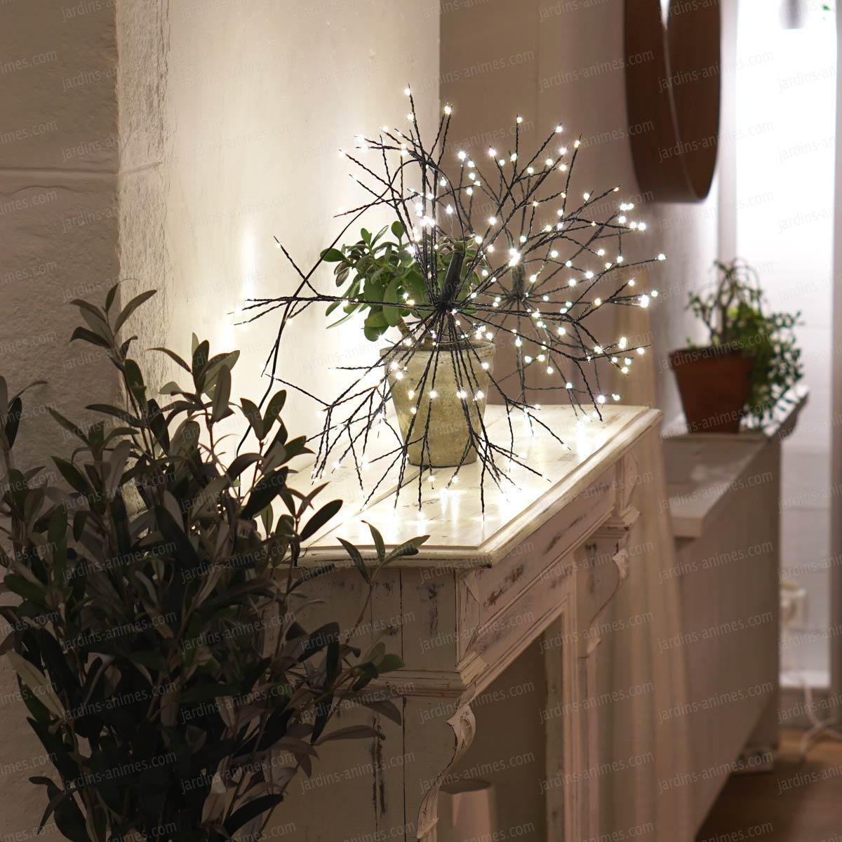 Boule lumineuse  LED pour dcoration intrieure et extrieure  Blanc chaud  Eclairage et Lumire