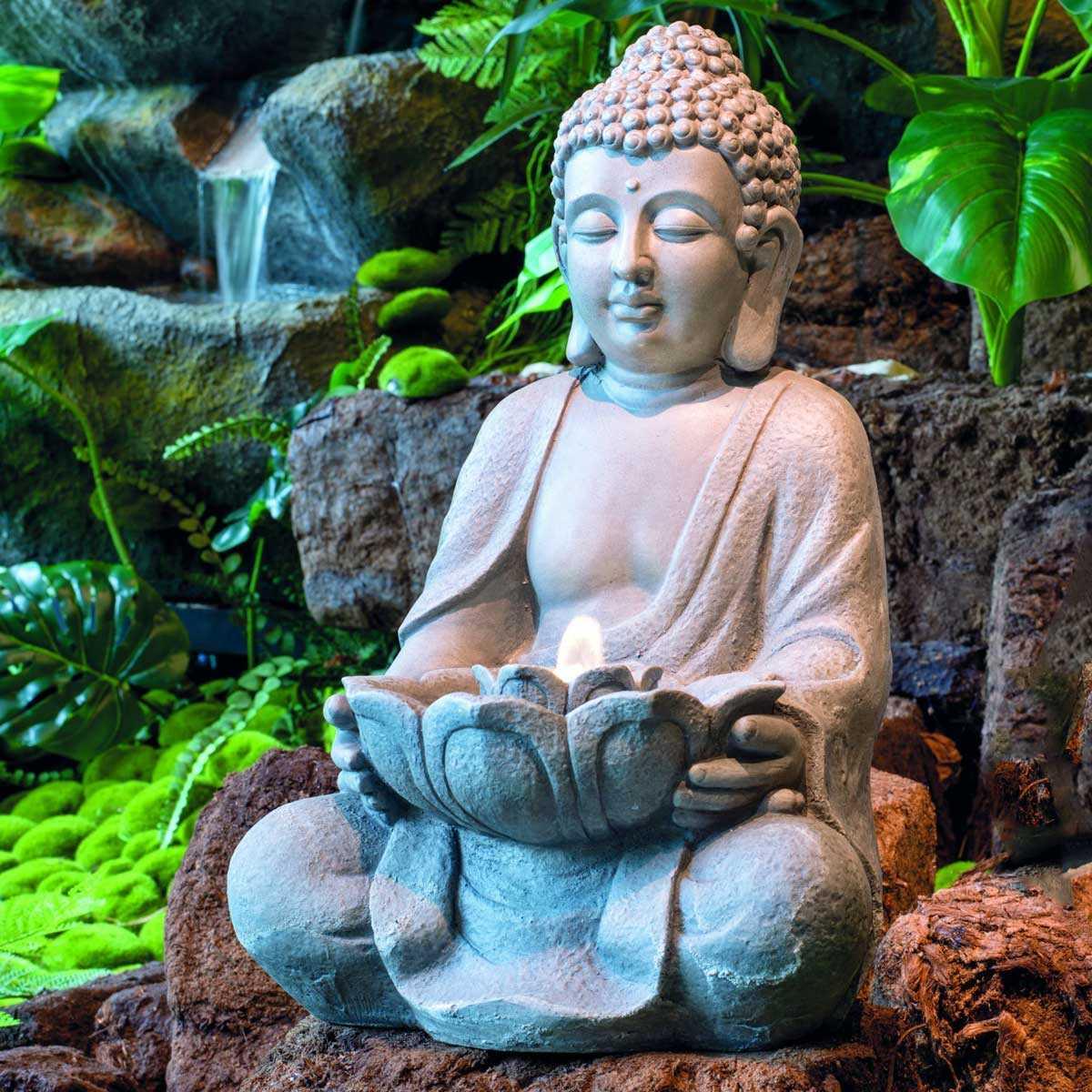 fontaine bouddha a led interieur exterieur vente au meilleur prix jardins animes