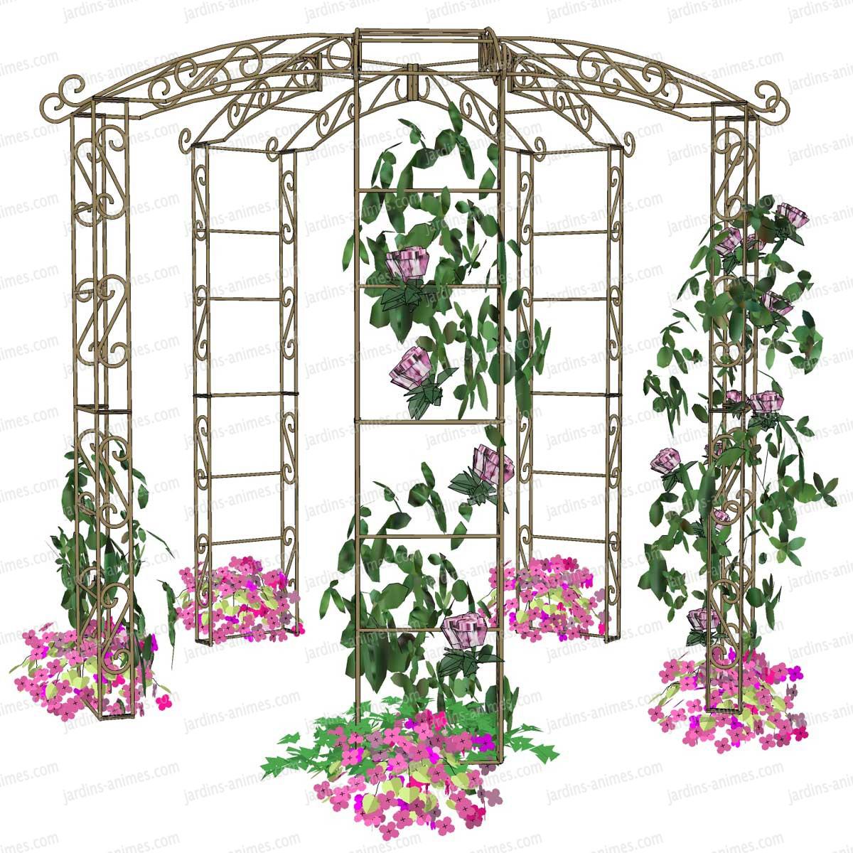 Kiosque de jardin tonnelle 5 pieds  Arches Kiosque et Marquise