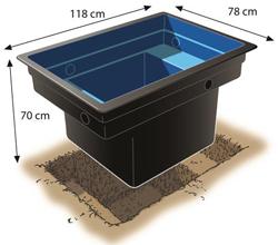 bassin a coque preforme 520l