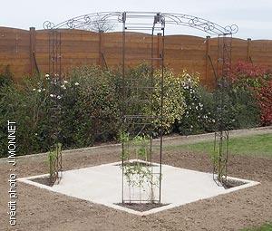 Kiosque de jardin tonnelle 4 pieds  Arches Kiosque et Marquise