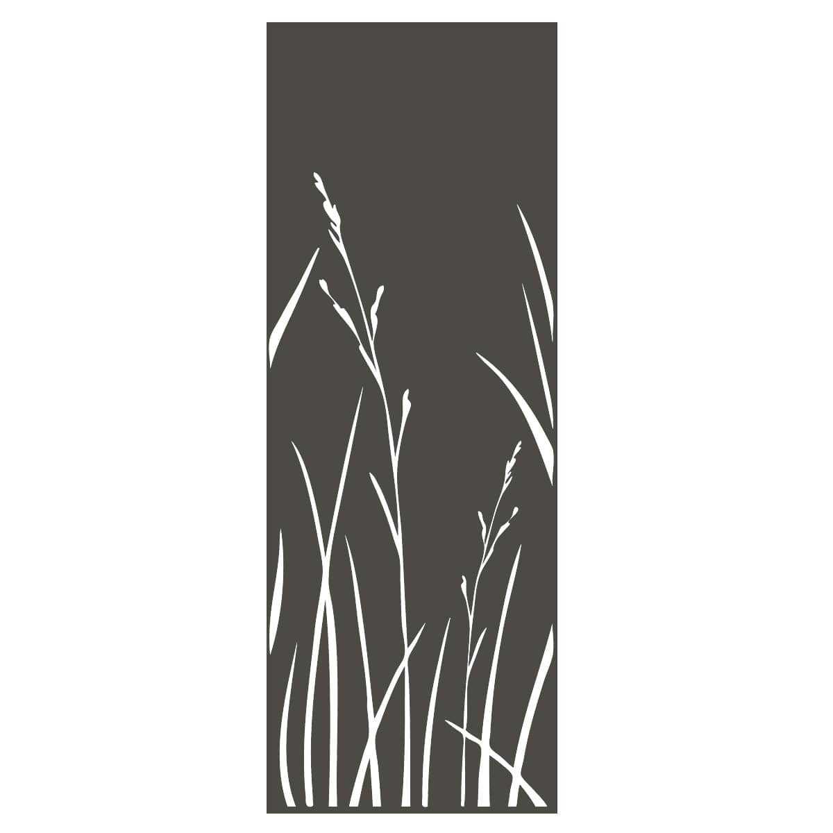 panneau decoratif exterieur en metal h 144cm herbes gris vente au meilleur prix jardins animes