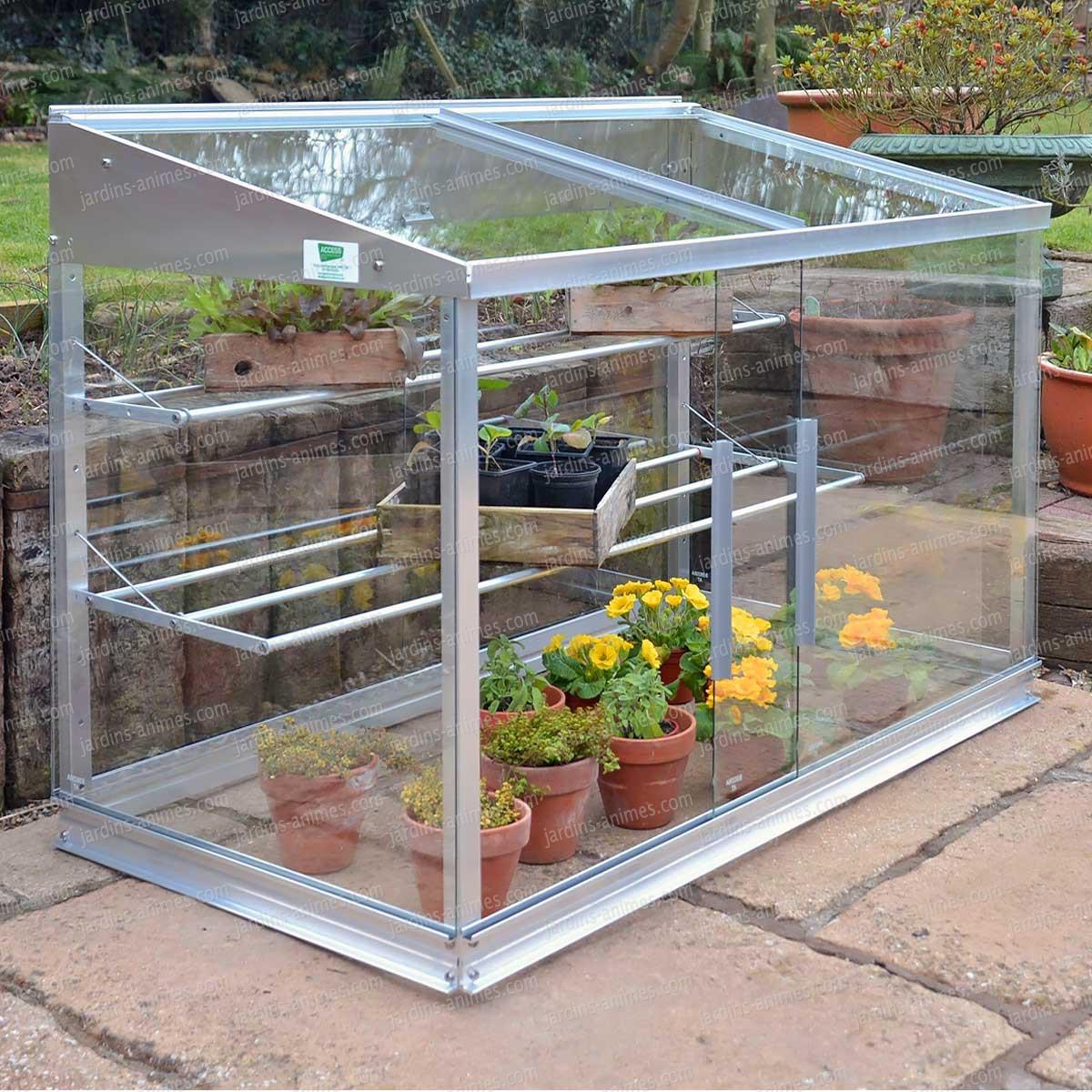Mini Serre en verre et aluminium 080m2  Serre Jardin