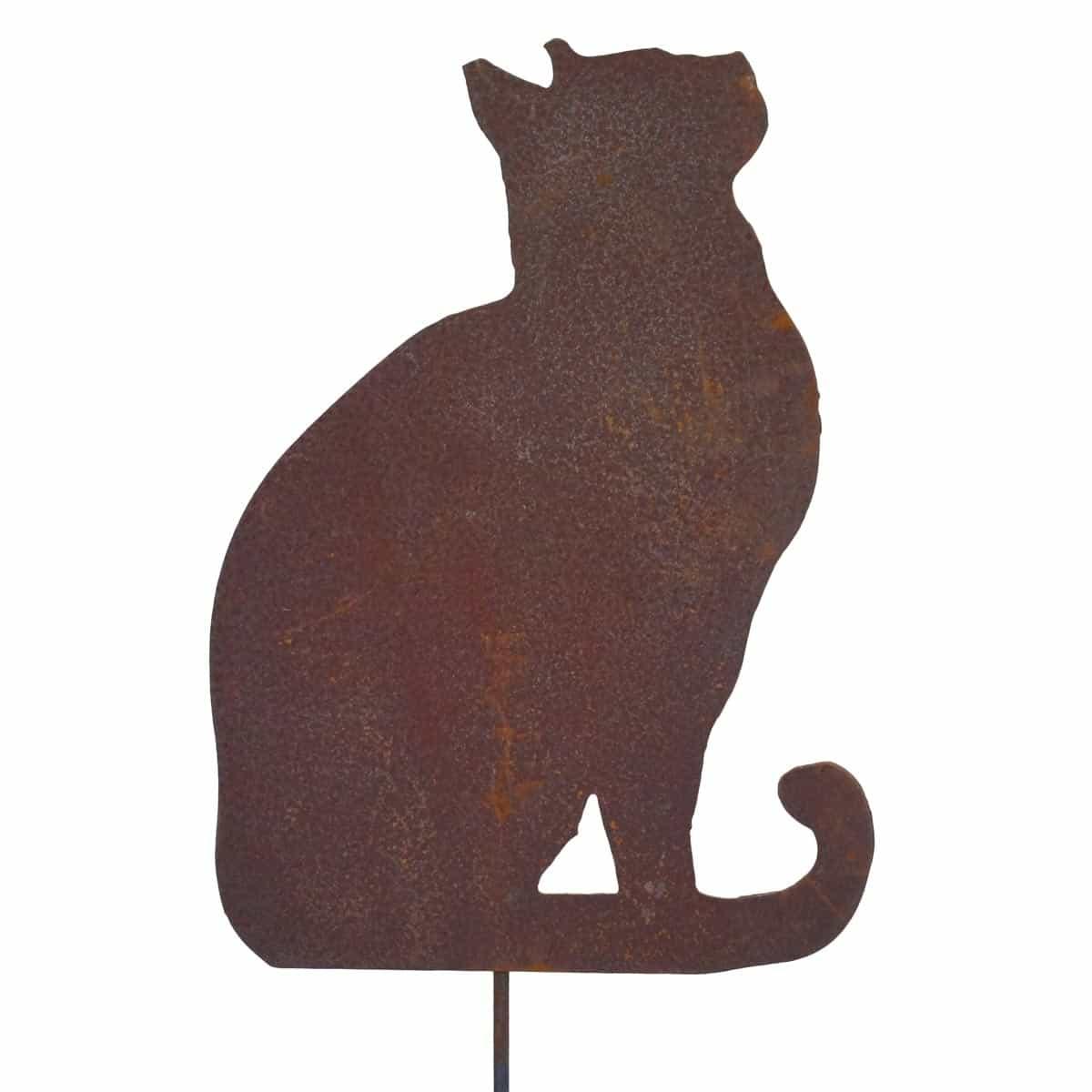 Silhouette chat regardant en lair  dco de jardin en