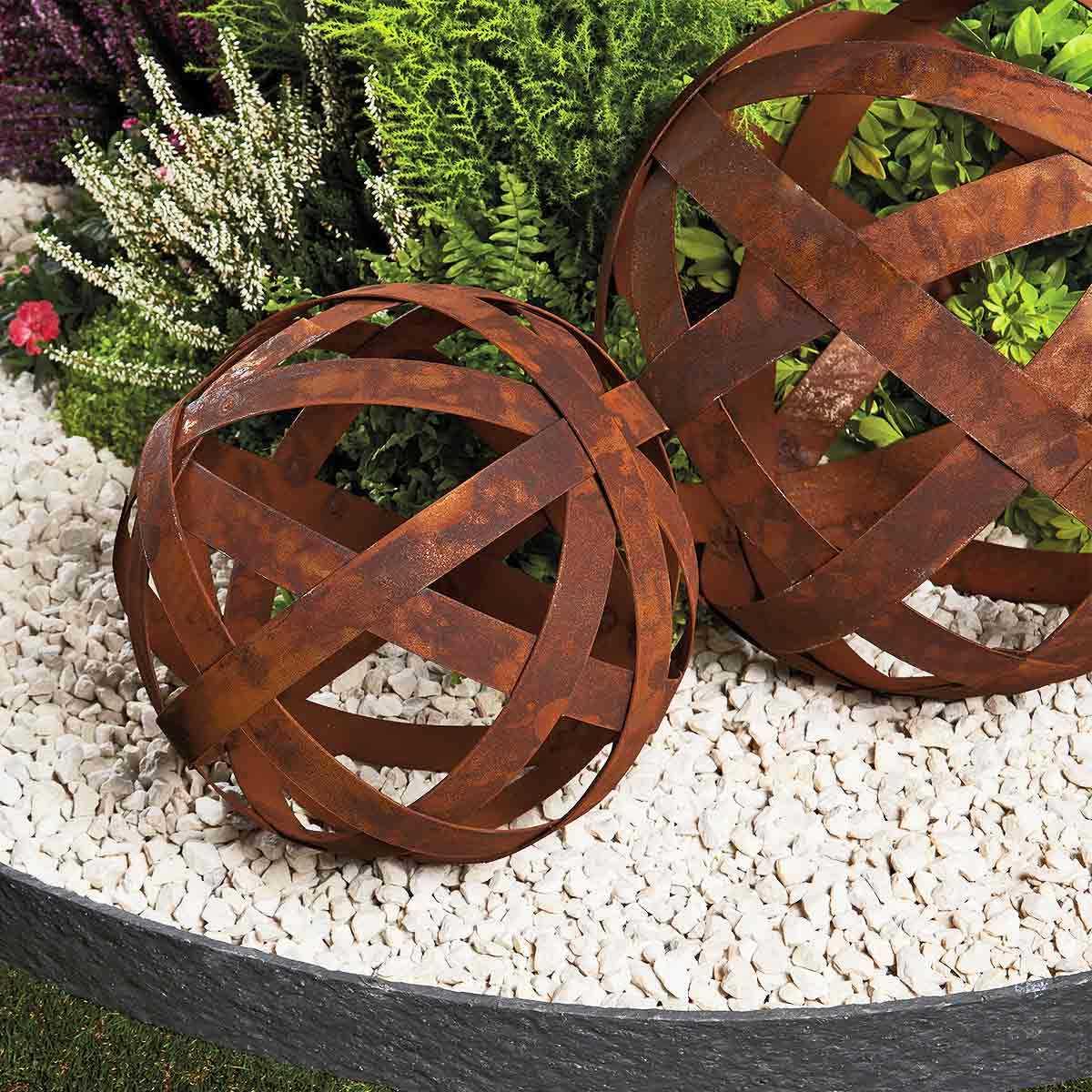 boule a arceaux deco jardin en metal vente au meilleur prix jardins animes