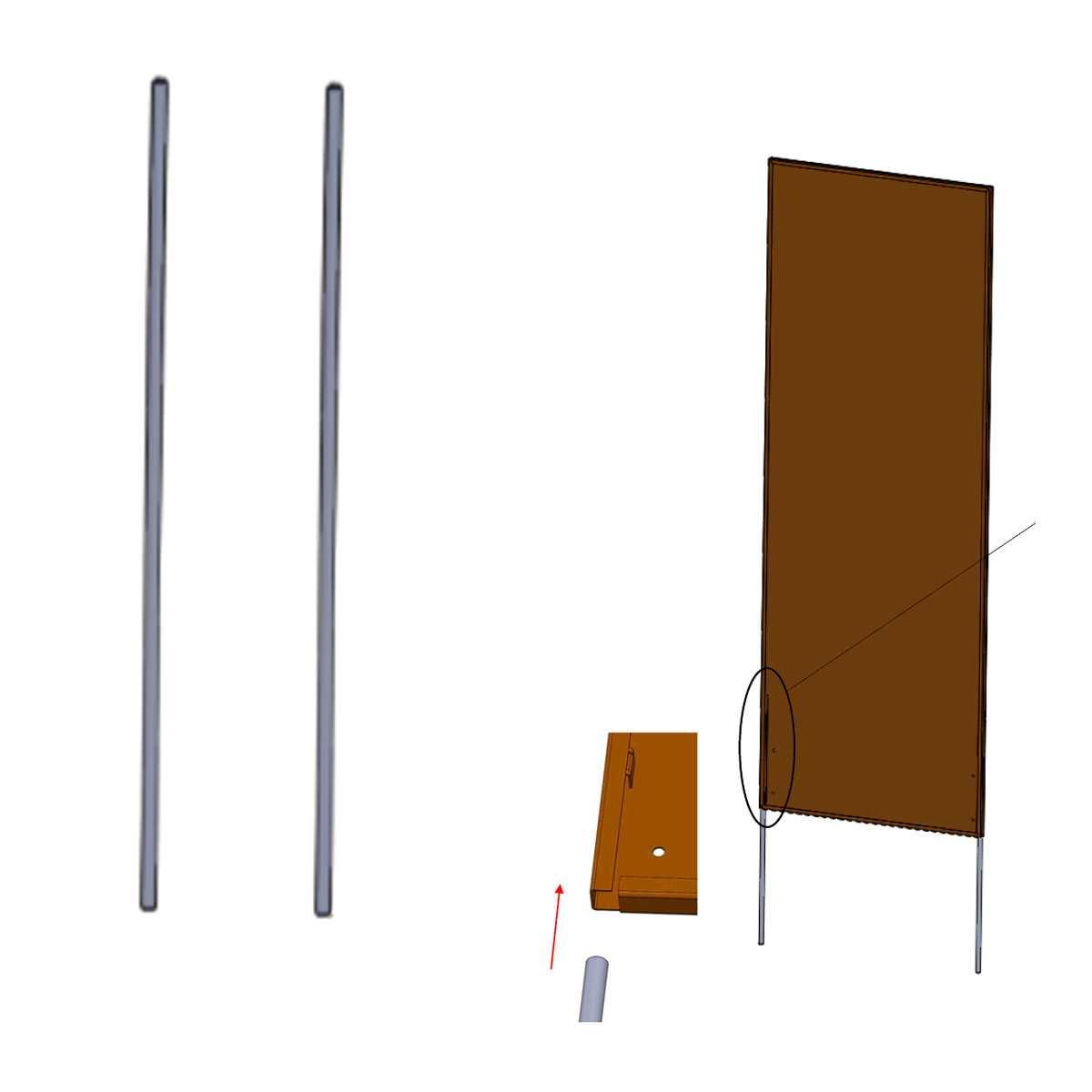 2 tiges de fixation pour panneau en metal sol meuble vente au meilleur prix jardins animes