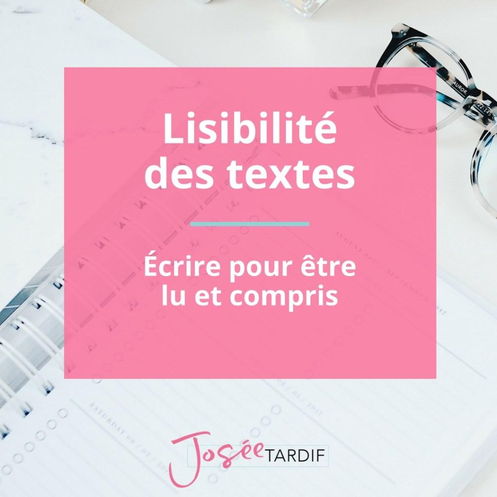 Les principales caractéristiques d'un texte plus facile à lire et à comprendre.