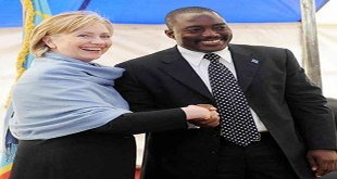 "Photo d'hillary clinton et ""Joseph Kabila""... visage souriant."
