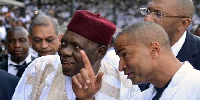 Moise KATUMBI [droite] et Issa HAYATOU [baret rougeâtre].