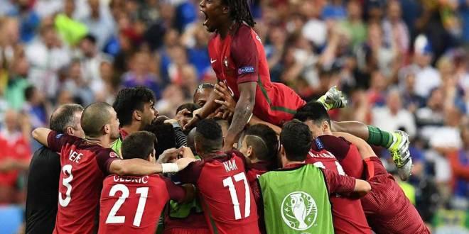 Euro 2016 : Joueurs de l'équipe nationale portugaise.
